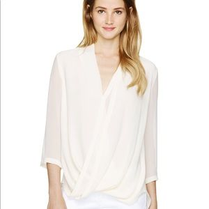Aritzia silk beau blouse sz small